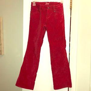 Girls size 8 GAP kids velour flare leg jeans.